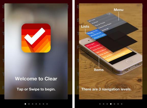 Clear - אפליקציית משימות