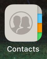 אנשי קשר באייפון