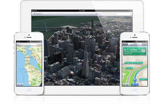 אפליקציית מפות חדשה - iOS 6