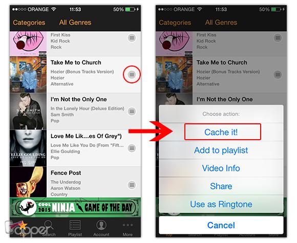 איך להוריד שירים לאייפון מיוטיווב