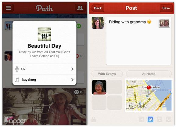 Path - רשת חברתית לאייפון