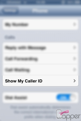 הצג את המספר שלי / Show My Caller ID