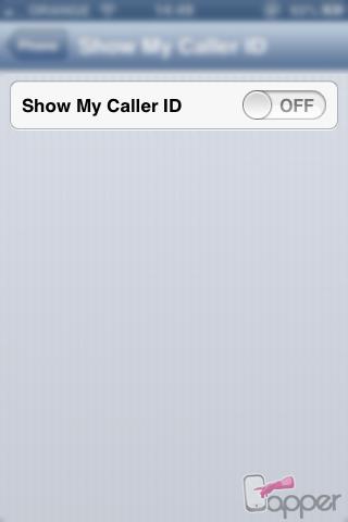 מספר חסוי באייפון