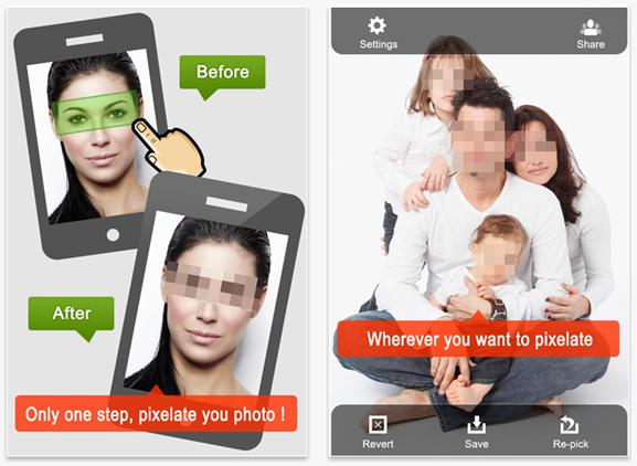 צנזור וטשטוש תמונות לאייפון