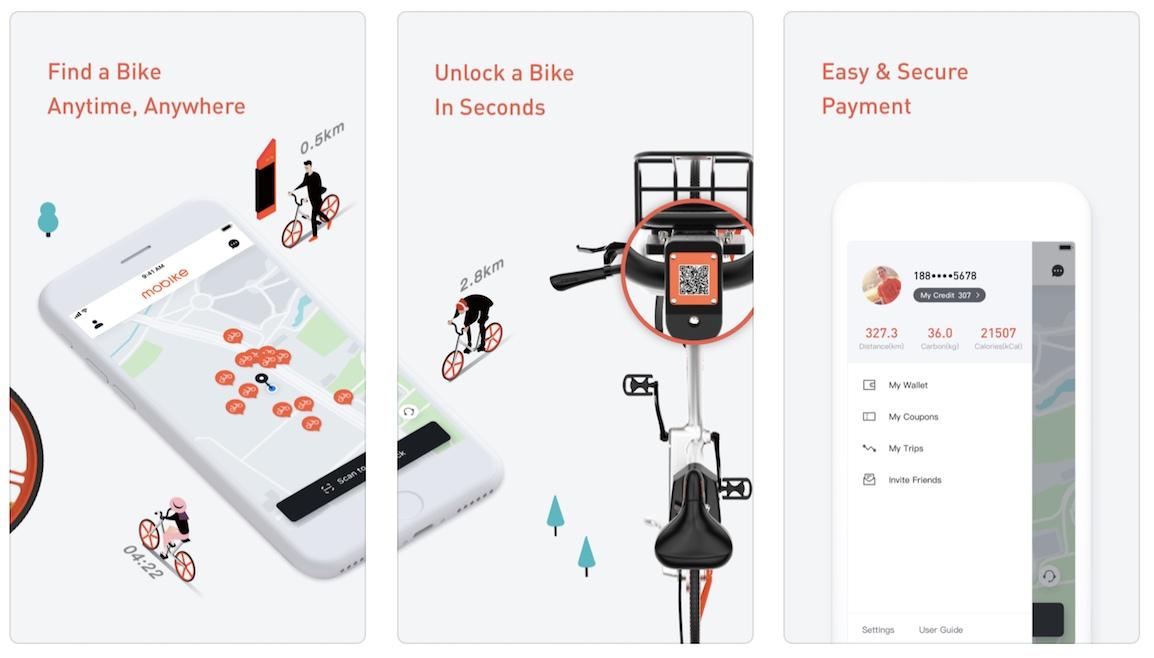 אפליקציית השכרת אופניים