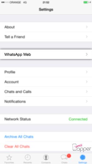 WhatsApp Web לאייפון